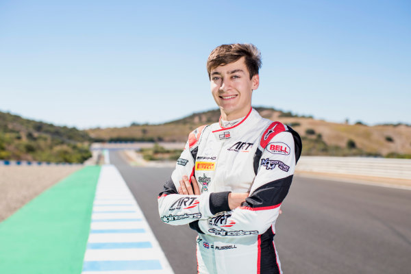 2017 GP3 Series Round 7.  Circuito de Jerez, Jerez, Spain. Sunday 8 October 2017. George Russell (GBR, ART Grand Prix).  Photo: Zak Mauger/GP3 Series Media Service. ref: Digital Image _56I3965