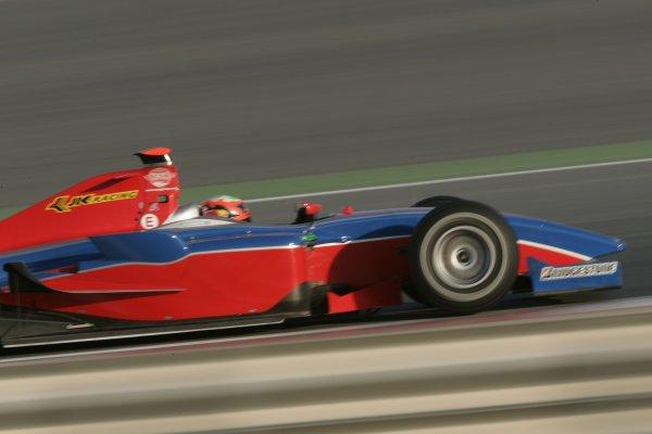 2008 GP2 Asia Series. Testing.Dubai. Dubai Autodrome. 20th January.Karun Chandhok (IND, iSport International). Action. World Copyright: Alastair Staley/GP2 Series Media Serviceref: _MG_2178
