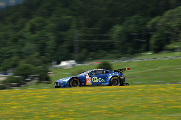 2017  European Le Mans Series, Red Bull Ring, 21st-23rd July 2017, #90 Salih Yoluc (TUR) / Euan Hankey (GBR) / Nicki Thiim (DNK) - TF SPORT - Aston Martin V8 Vantage World Copyright. JEP/LAT Images