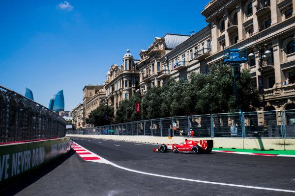 2017 FIA Formula 2 Round 4. Baku City Circuit, Baku, Azerbaijan. Friday 23 June 2017. Charles Leclerc (MCO, PREMA Racing)  Photo: Zak Mauger/FIA Formula 2. ref: Digital Image _54I9430