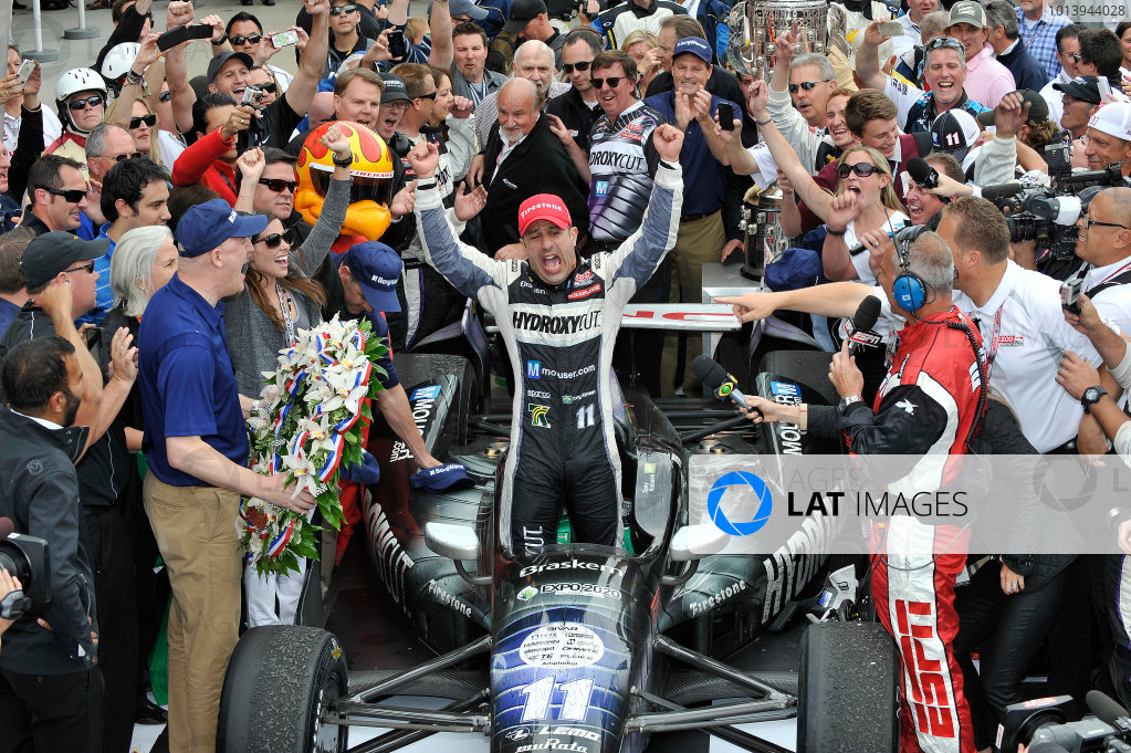 26 May, 2013, Indianapolis, Indiana, USA Winner Tony Kanaan in Victory lane © 2013, Scott LePage LAT Photo USA