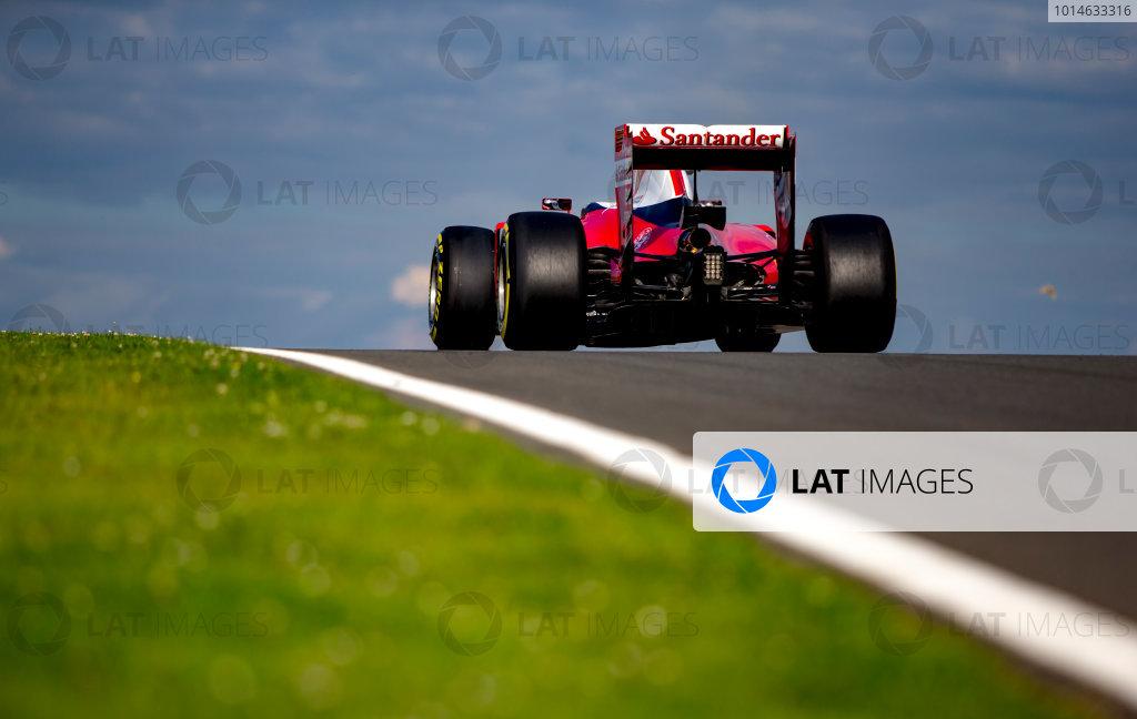 Silverstone, Northamptonshire, UK. Wednesday 13 July 2016. Kimi Raikkonen, Ferrari SF16-H. World Copyright: Zak Mauger/LAT Photographic ref: Digital Image _L0U8749