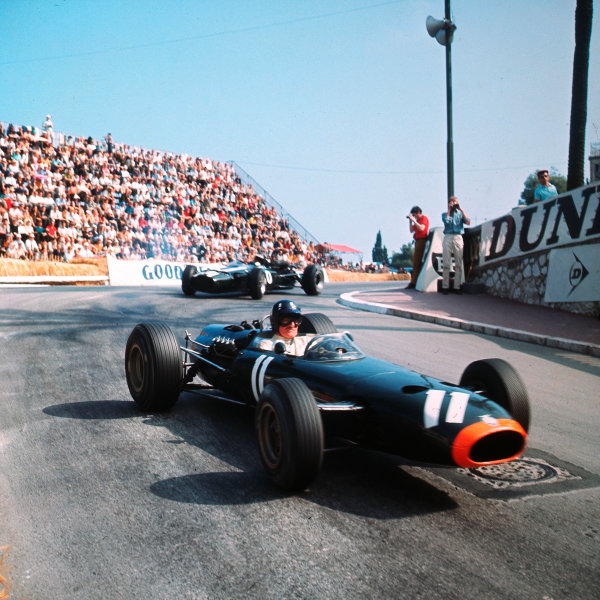Monte Carlo, Monaco. 19-22 May 1966.Graham Hill (BRM P261) 3rd position. Ref-3/1644.World Copyright - LAT Photographic