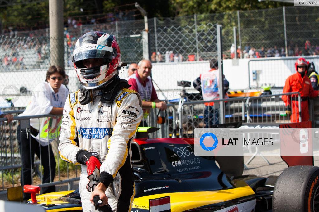 2014 GP2 Series. Round 9.   Autodromo di Monza, Monza, Italy. Sunday 7 September 2014. Jolyon Palmer (GBR, DAMS). Photo: Zak Mauger/GP2 Series Media Service. ref: Digital Image IMG_9570