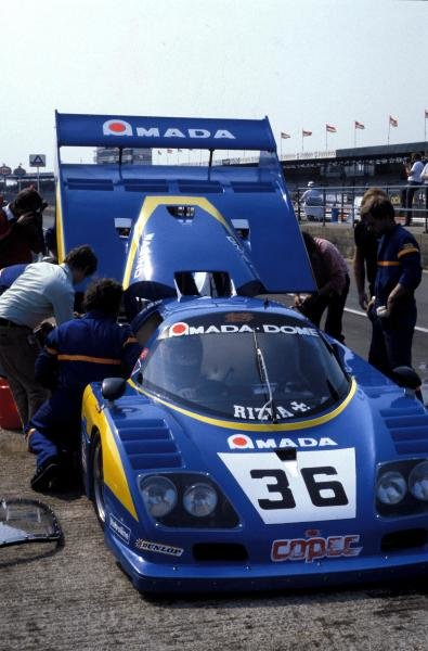 Chris Craft (GBR) / Raul Boesel (BRA) / Eliseo Salazar (CHI) Dome RC-82 Ford in the pits.