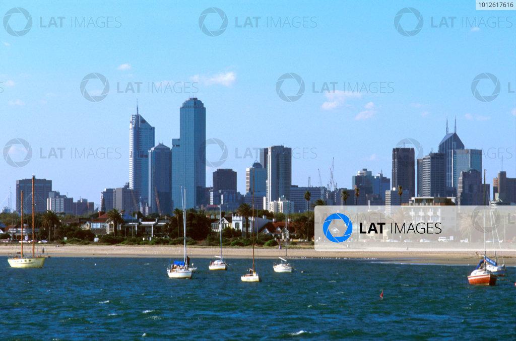 Albert Park, Melbourne, Australia.8-10 March 1996.The coastline of Melbourne.Ref-96 AUS 05.World Copyright - LAT Photographic