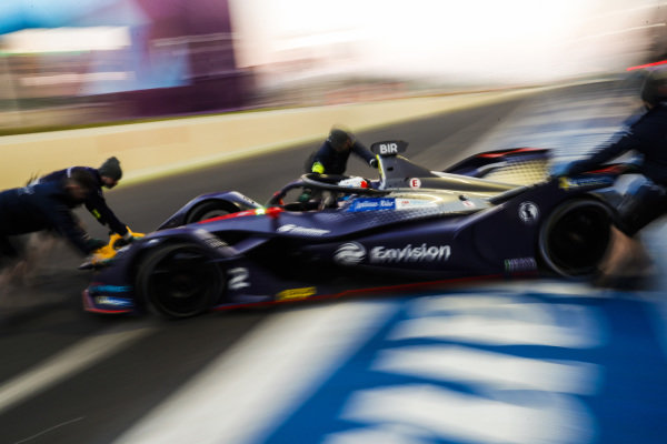 Sam Bird (GBR), Envision Virgin Racing, Audi e-tron FE05, is returned to his garage