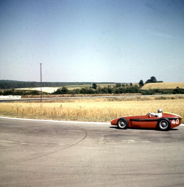 1959 French Grand Prix.Reims, France.3-5 July 1959.Giorgio Scarlatti (Maserati 250F) 8th position.Ref-3/0102B.World Copyright - LAT Photographic