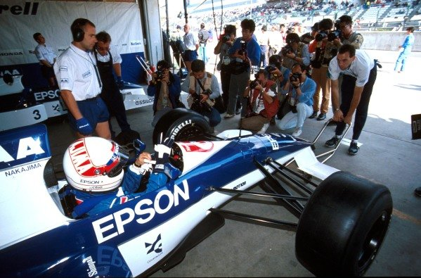Satoru Nakajima(J), Tyrrell 019, 6th place Japanese GP - Suzuka, Japan, 21 October 1990