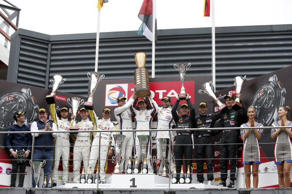Podium: Winners #20 GPX Racing Porsche 911 GT3 R: Kevin Estre, Michael Christensen, Richard Lietz, second place #998 ROWE Racing Porsche 911 GT3 R: Frédéric Makowiecki, Patrick Pilet, Nick Tandy, third place #4 Mercedes-AMG Team Black Falcon Mercedes-AMG GT3: Yelmer Buurman, Luca Stolz, Maro Engel.