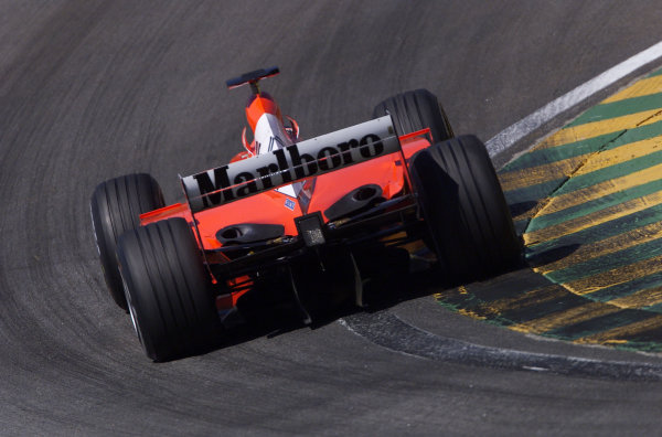2002 Brazilian Grand Prix - QualifyingInterlagos, Brazil. 30 March 2002Rubens Barrichello (Ferrari 2001). World Copyright: Pic Steve Etherington/LAT PhotographicRef: xxmb Digital Image Only