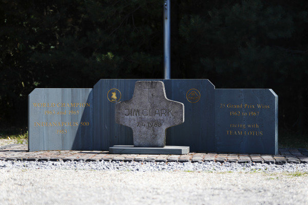 A memorial to Jim Clark.