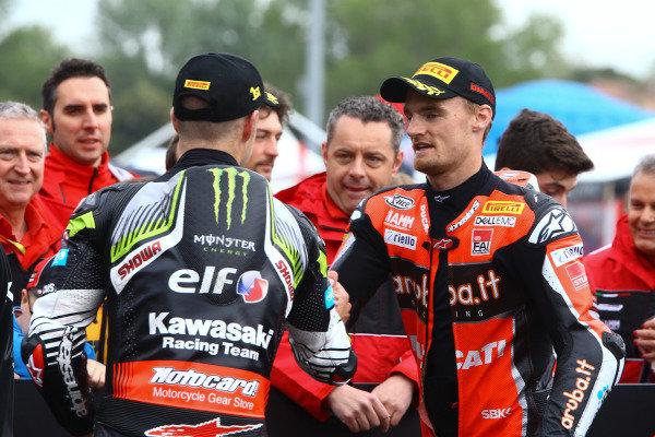 Jonathan Jonathan Rea, Kawasaki Racing Team, Chaz Davies, Aruba.it Racing-Ducati Team, World SBK.