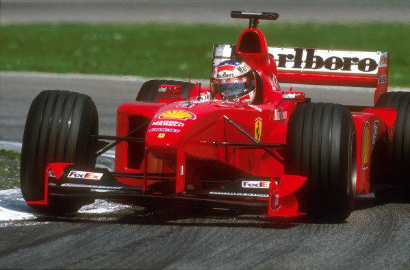 1999 San Marino Grand Prix.Imola, Italy. 30/4-2/5 1999.Michael Schumacher (Ferrari F399) 1st position.Ref-99 SM 82.World Copyright: LAT Photographic
