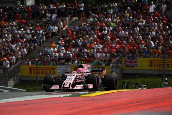 Esteban Ocon (FRA) Force India VJM10 at Formula One World Championship, Rd9, Austrian Grand Prix, Race, Spielberg, Austria, Sunday 9 July 2017.
