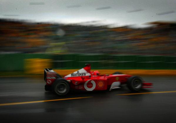 2002 Qantas Australian Grand Prix - RaceAlbert Park, Melbourne, Australia. 3rd March 2002Michael Schumacher (Ferrari F2001).World Copyright - Steve Etherington/LAT PhotographicRef: 12 5MB Digital Image Only