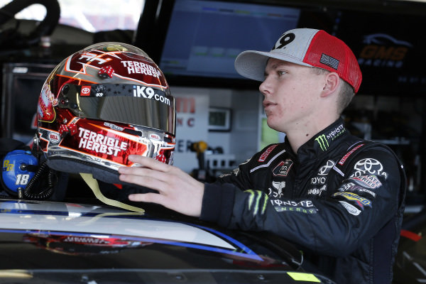 #18: Riley Herbst, Joe Gibbs Racing, Toyota Supra iK9