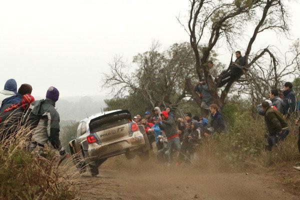 Sebastien Ogier (FRA) / Julien Ingrassia (FRA), Volkswagen Polo R WRC. FIA World Rally Championship, Rd5, Rally Argentina, Day Two, Cordoba-Villa Carlos Paz, Argentina, 10 May 2014.
