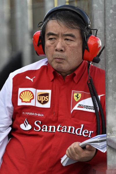 Hirohide Hamashima (JPN) Ferrari Tyre Engineer. Formula One Testing, Jerez, Spain, Day Three, Thursday 30 January 2014.