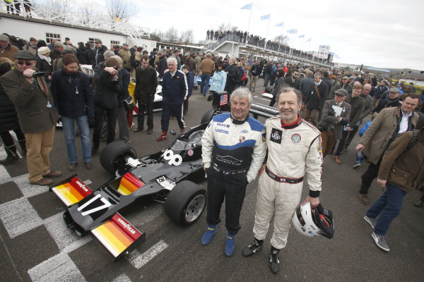 2015 73rd Members Meeting. Goodwood Estate, West Sussex, England. 21st - 22nd March 2015. High air box F1 celebration with Jean-Pierre Jarier. World Copyright: Gary Hawkins/LAT Photographic ref: Digital Image JARIER_F2R1246