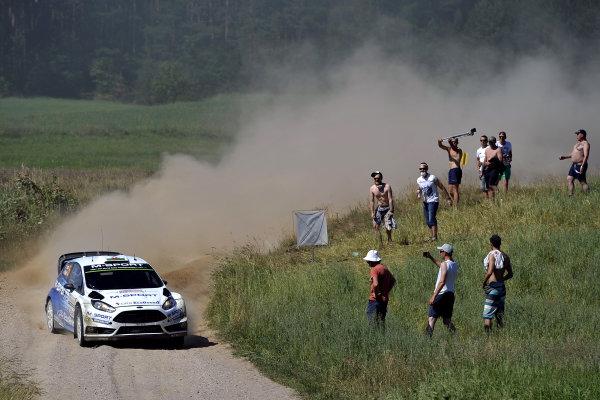 Elfyn Evans (GBR) / Daniel Barritt (GBR) Ford Fiesta RS WRC at FIA World Rally Championship, Rd7, Lotos 71st Rally Poland, Day One, Mikolajki, Poland, Friday 3 July 2015.