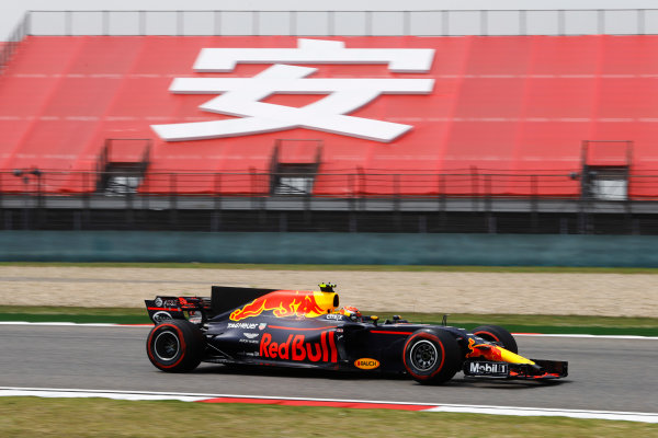 Shanghai International Circuit, Shanghai, China.  Saturday 08 April 2017. Max Verstappen, Red Bull Racing RB13 TAG Heuer.  World Copyright: Steven Tee/LAT Images ref: Digital Image _R3I3272