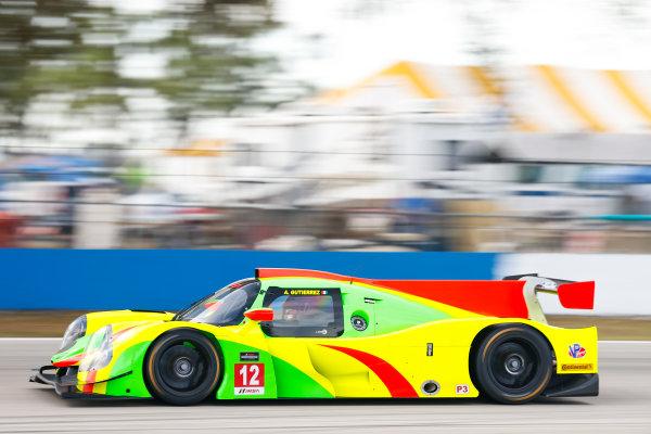 2017 IMSA Prototype Challenge Sebring International Raceway, Sebring, FL USA Friday 17 March 2017 12, Andres Gutierrez, P3, Ligier JS P3 World Copyright: Jake Galstad/LAT Images ref: Digital Image lat-galstad-SIR-0317-14953