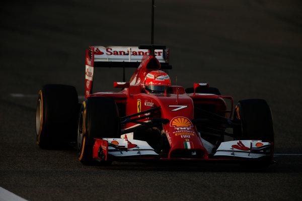 2014 F1 Pre Season Test 2 - Day 3 Bahrain International Circuit, Bahrain. Saturday 22 February 2014. Kimi Raikkonen, Ferrari F14T. World Copyright: Glenn Dunbar/LAT Photographic. ref: Digital Image _W2Q4581