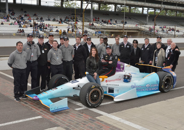 17-18 May, 2014, Indianapolis, Indiana, USA #91 Buddy Lazier, Lazier Partners Racing and crew ©2014 Dan R. Boyd LAT Photo USA