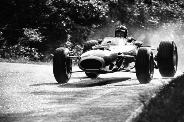 1966 German Grand Prix. Nurburgring, Germany. 5-7 August 1966. Graham Hill (BRM P261), 4th position, action.  World Copyright: LAT Photographic.  Ref:  1340 - 14A.