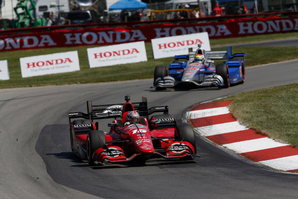 31 July - 2 August, 2015, Lexington, Ohio, USA Graham Rahal, Justin Wilson © 2015, Michael L. Levitt LAT Photo USA