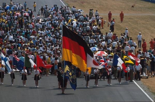The packed grid German GP, Hockenheim, Germany, 29 July 1990