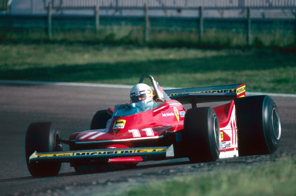 Jody Scheckter (RSA) Ferrari on his way to a second place finish. Formula One World Championship, Rd12, Dutch Grand Prix, Zandvoort, Holland. 26 August 1979.