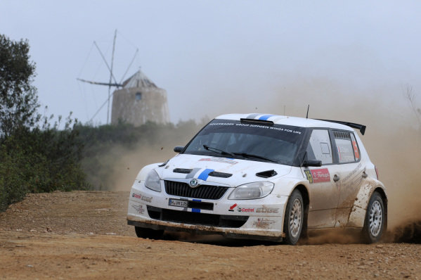 Sebastien Ogier (FRA) and Julien Ingrassia (FRA), Skoda S2000 on stage 18. FIA World Rally Championship, Rd4, Rally Portugal, Faro, Portugal, Sunday 1 April 2012.