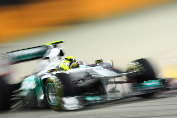 Marina Bay Circuit, Singapore.24th September 2011.Nico Rosberg, Mercedes GP W02. Action. World Copyright: Andy Hone/LAT Photographicref: Digital Image CSP28023
