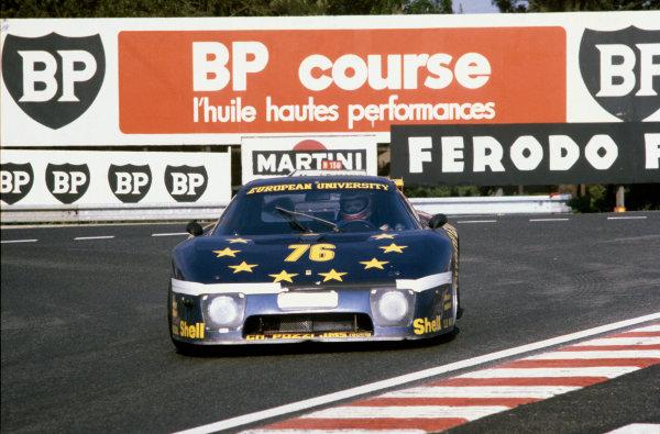 Le Mans, France. 14th - 15th June 1980.Jean Xhenceval/Herve Regout/Pierre Dieudonne (Ferrari 512 BB), 10th position, action. World Copyright: LAT Photographic.