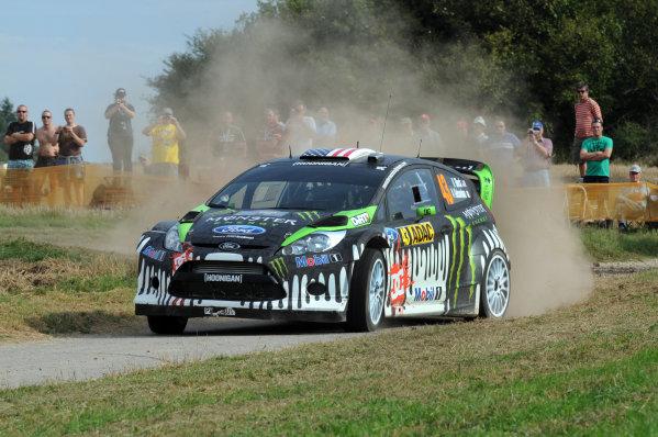 Round 09 - Rally Deutschland 18-21 August 2011.Ken Block, Ford WRC, Action.Worldwide Copyright: McKlein/LAT