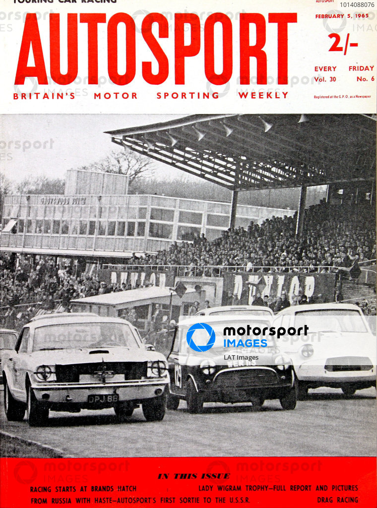 1965 Autosport Front Cover. 5th February 1965. World Copyright: LAT Photographic.