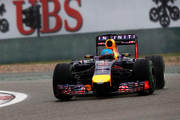 Shanghai International Circuit, Shanghai, China. Saturday 19 April 2014. Sebastian Vettel, Red Bull Racing RB10 Renault. World Copyright: Charles Coates/LAT Photographic. ref: Digital Image _N7T2747