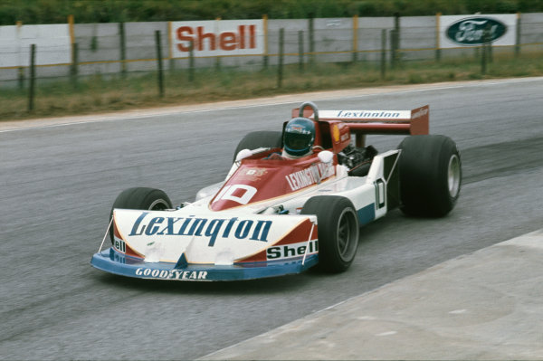 Kyalami, South Africa.3-5 March 1977.Hans-Joachim Stuck (March-Ford 761B), retired, action. World Copyright: LAT Photographic.Ref:  77SA23.