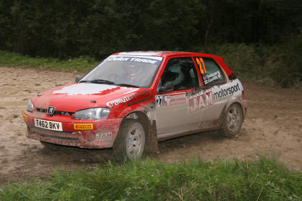 Rally Yorskshire, 24th-25th September 2010Mark Gamble/Paul Swinscoe - PeugeotWorld copyright: Jakob Ebrey/LAT Photographic