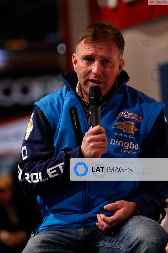 Autosport International Show NEC, Birmingham.  Sunday 12 January 2014. Chris Stockton on the stage. World Copyright:Sam Bloxham/LAT Photographic ref: Digital Image _SBL2809