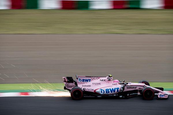Suzuka Circuit, Japan. Friday 6 October 2017. Esteban Ocon, Force India VJM10 Mercedes.  World Copyright: Glenn Dunbar/LAT Images  ref: Digital Image _31I4841