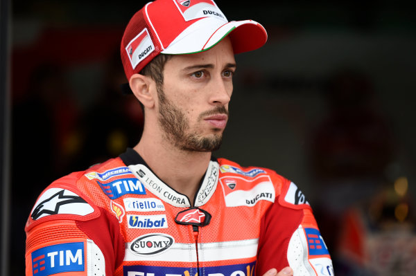 2017 MotoGP Championship - Round 14 Aragon, Spain. Friday 22 September 2017 Andrea Dovizioso, Ducati Team World Copyright: Gold and Goose / LAT Images ref: Digital Image 693847