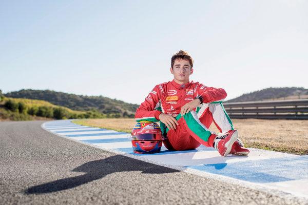 2017 FIA Formula 2 Round 10. Circuito de Jerez, Jerez, Spain. Saturday 7 October 2017. Charles Leclerc (MCO, PREMA Racing).  Photo: Zak Mauger/FIA Formula 2. ref: Digital Image _56I4121