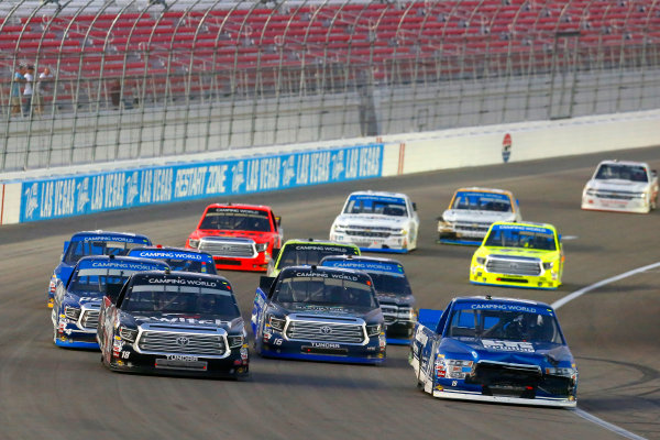 NASCAR Camping World Truck Series Las Vegas 350 Las Vegas Motor Speedway, Las Vegas, NV USA Saturday 30 September 2017 Austin Cindric, Ford F150 and Noah Gragson, Switch Toyota Tundra World Copyright: Russell LaBounty LAT Images