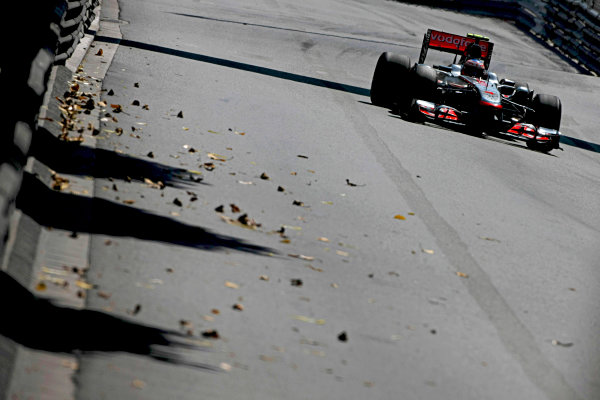 Monte Carlo, Monaco26th May 2011Jenson Button, McLaren MP4-26 Mercedes. Action. World Copyright: Andy Hone/LAT Photographicref: Digital Image CSD_3647
