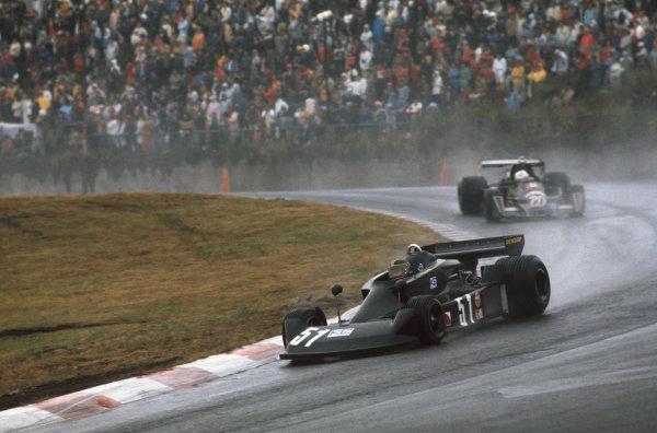 Fuji, Shizuoka, Japan. 22-24 October 1976. Masahiro Hasemi (Kojima KE007-Ford) 11th position and fastest lap in the race. Ref: 76JAP43. World Copyright - LAT Photographic