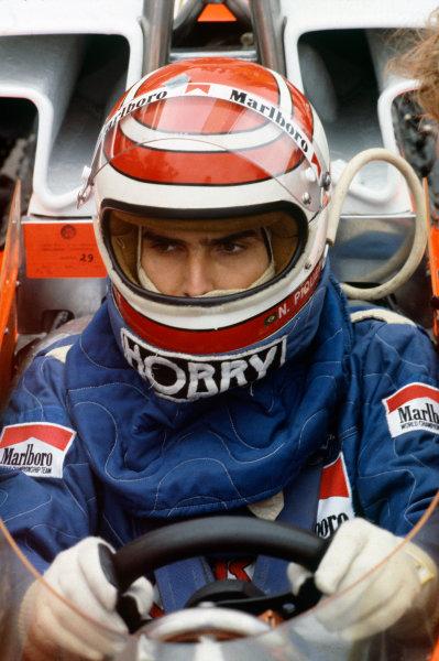 Zandvoort, Holland. 25-27 August 1978.Nelson Piquet (McLaren M23-Ford), retired, helmets. portrait. World Copyright: LAT Photographic.Ref:  78HOL18.