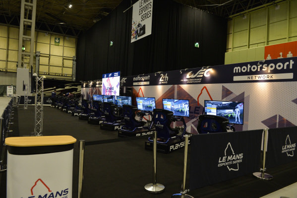 The Esports Motorsport Network Le Mans simulator stand.